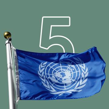 Flagge der UN