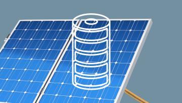 Batterie und Photovoltaikanlage