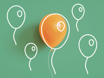 Aufsteigende Luftballons