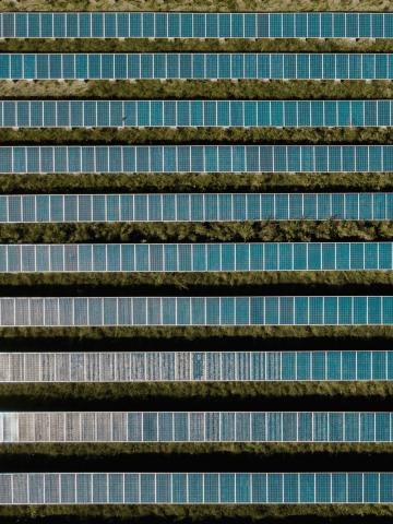 Photovoltaikanlage von oben