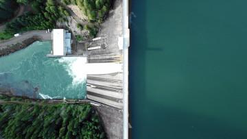 Drohnenaufnahme Wasserkraftwerk