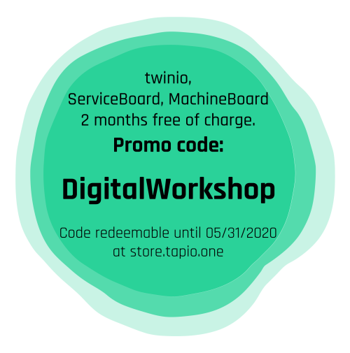 tapio promo code DigitalWorkshop for free ServiceBoard