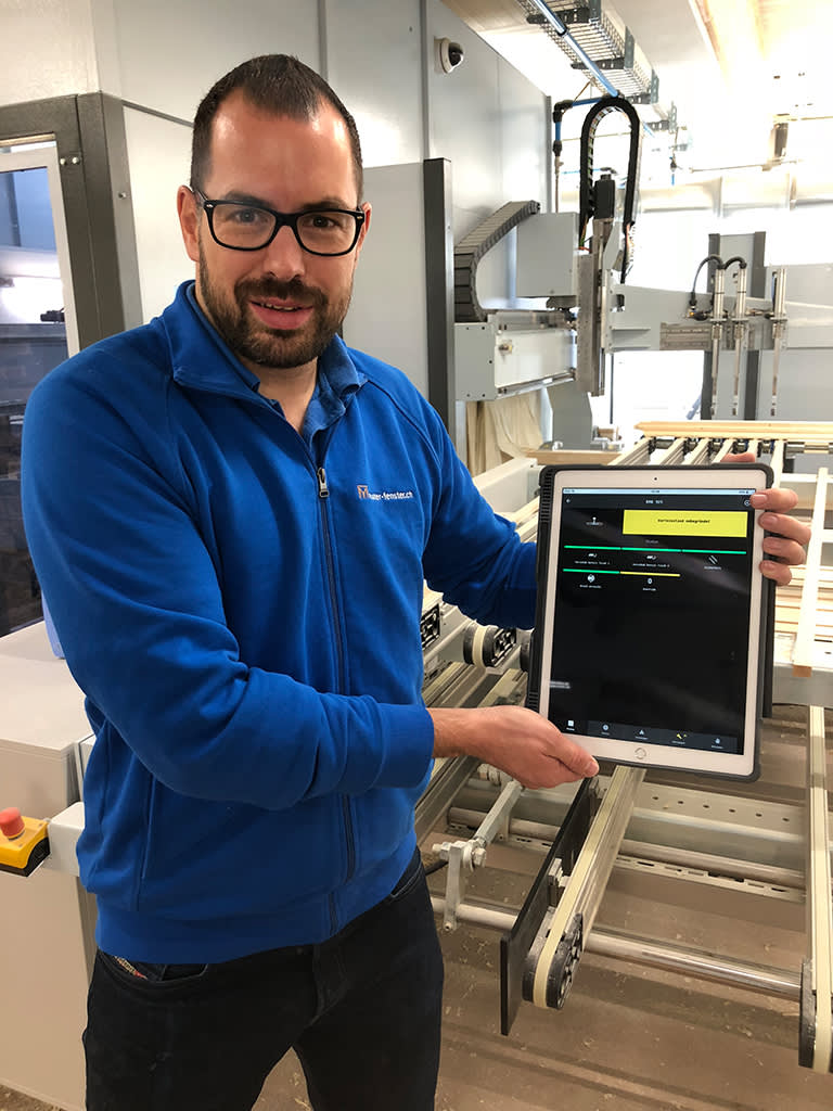 MachineBoard-app-tapio-tablet-CNC-Machine-window-manufacturer-condition-monitoring-machine-operator-production-woodworking