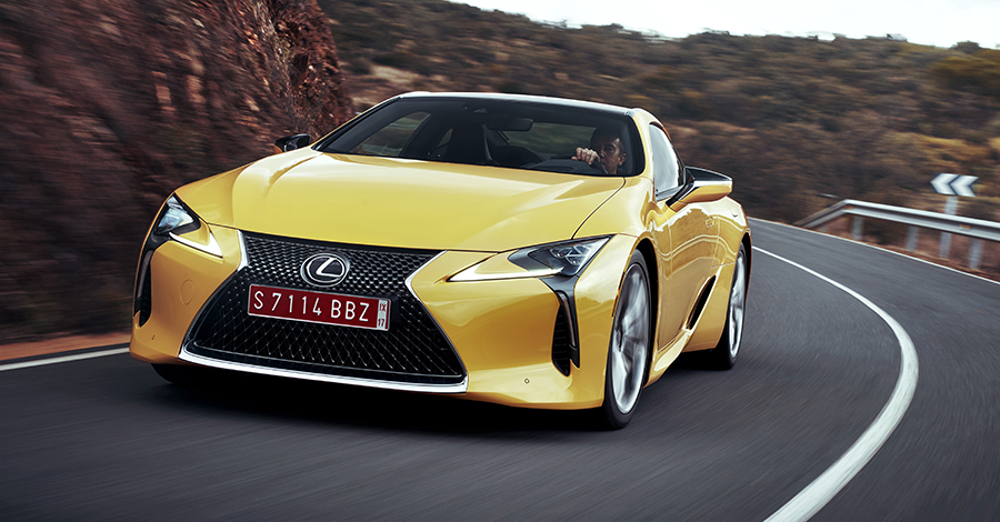 2016 Lexus LC500 NaplesYellow Dynamic FB