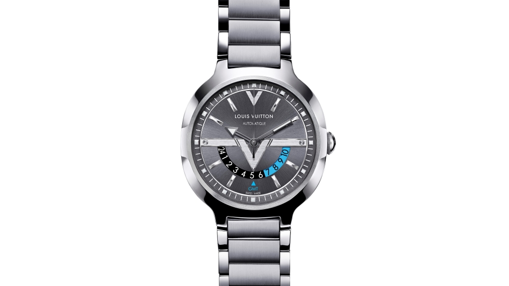 Louis Vuitton - GMT Steel Steel Anthracite dial
