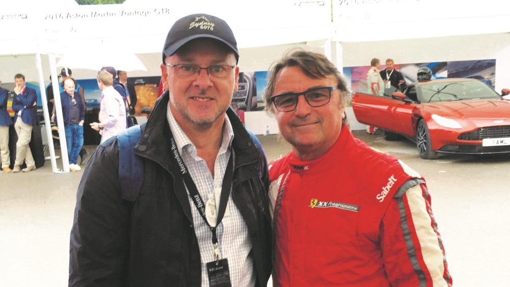 Michael with Rene Arnoux