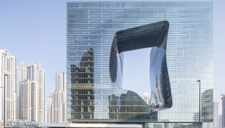 Zaha Hadid Designed a Wild Dubai Hotel That Has an 8-Story Hole in the Middle of It