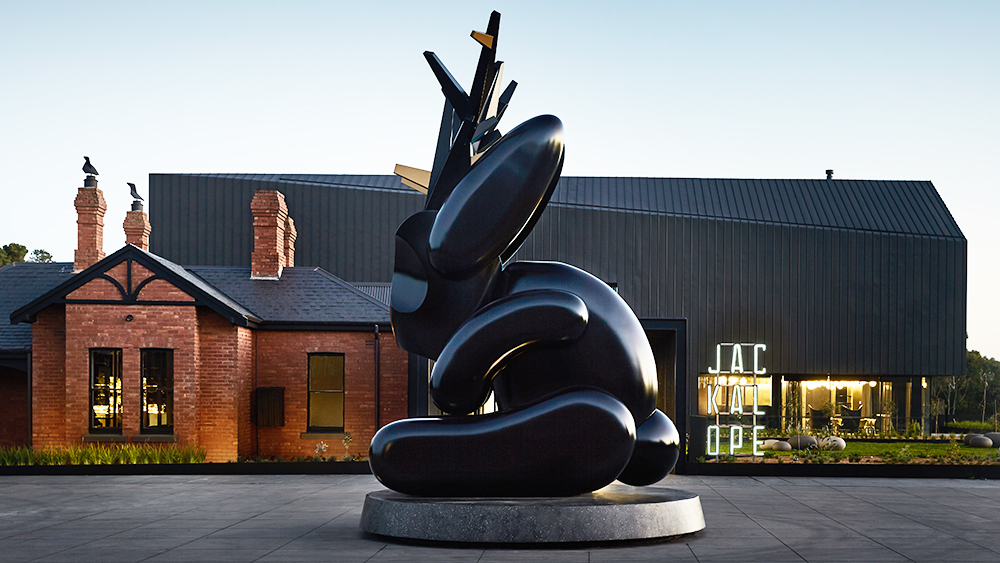 Jackalope Entrance Exterior, by Sharyn Cairns