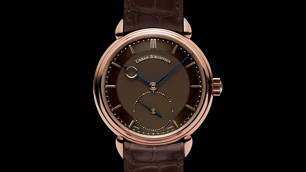 urban jurgensen 1745 collection reference 1140l rg brown dial dial2