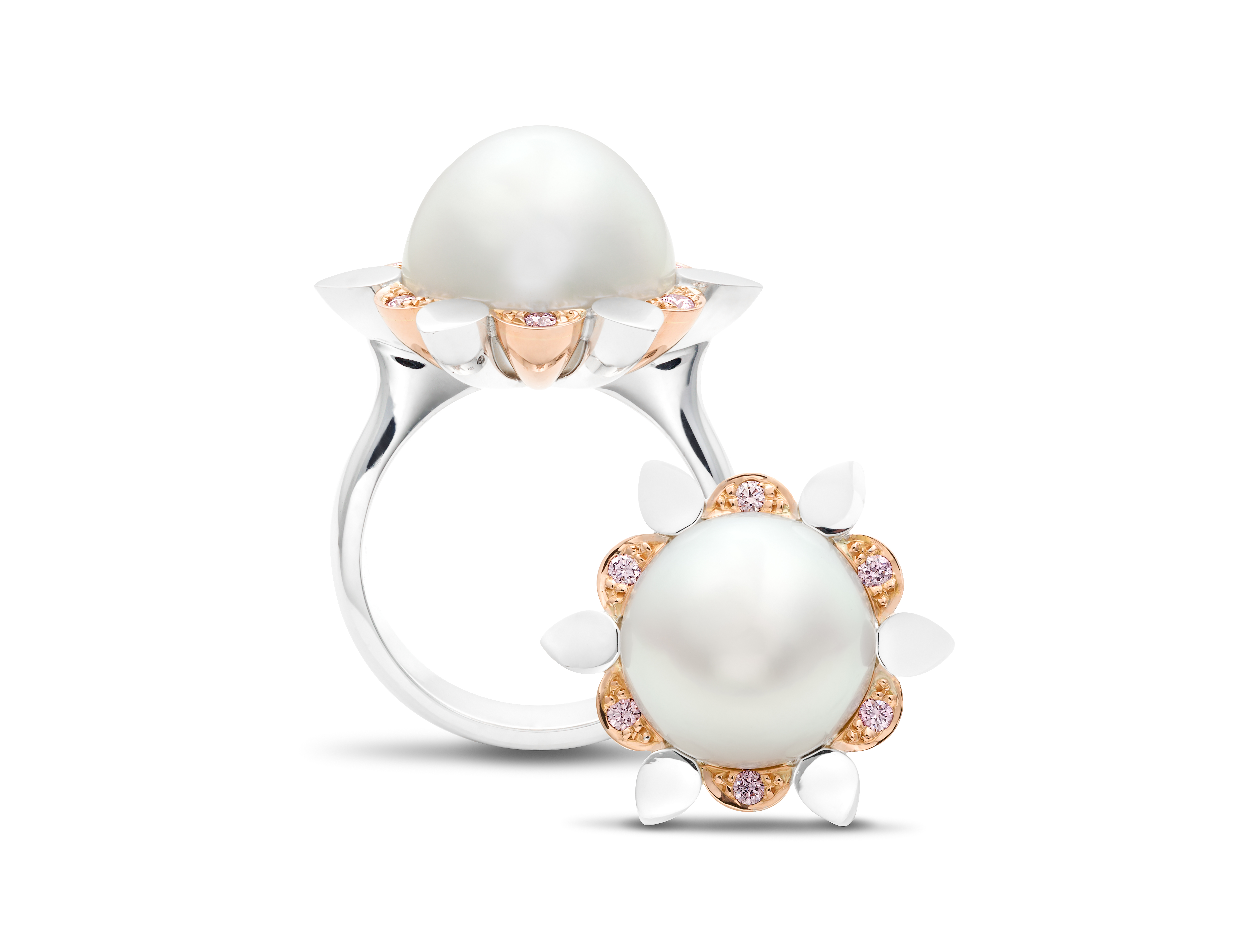 2 Rohan Milne ASS Pearl and Pink Diamond ring