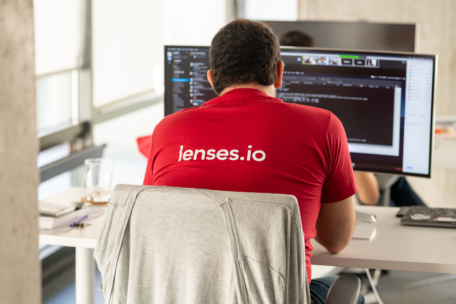 lenses.io developer working in office