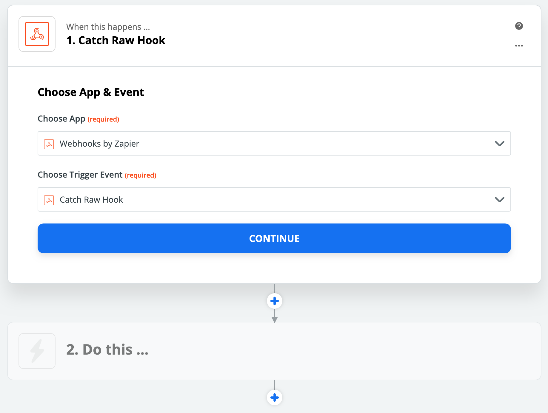 Create Zapier WebHook (SMS)