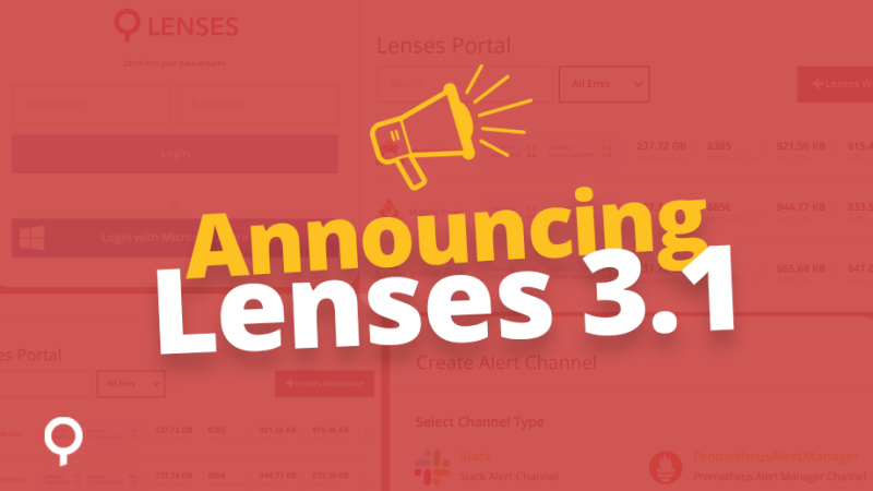 Lenses 3.1 - Data discovery & observability for Elasticsearch, multi-cluster, SSO & alerting improvements