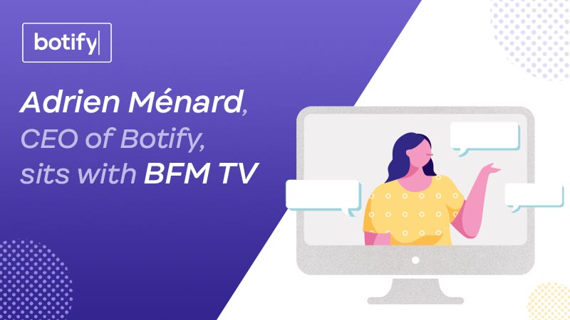Adrien Ménard, CEO of Botify, sits with BFM TV
