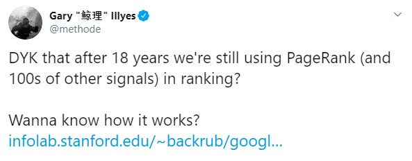 Gary Illyes we still use pagerank