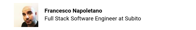Francesco Napoletano Software Engineer Subito