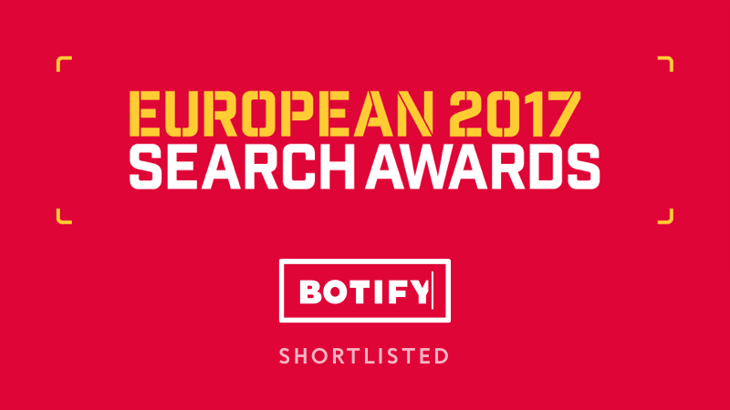EU Search Awards Finalist in 3 Categories!