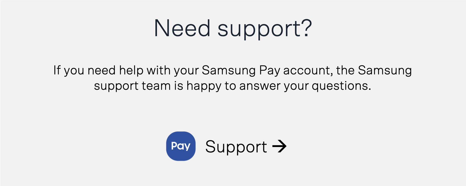 Support Banner Samsung Pay