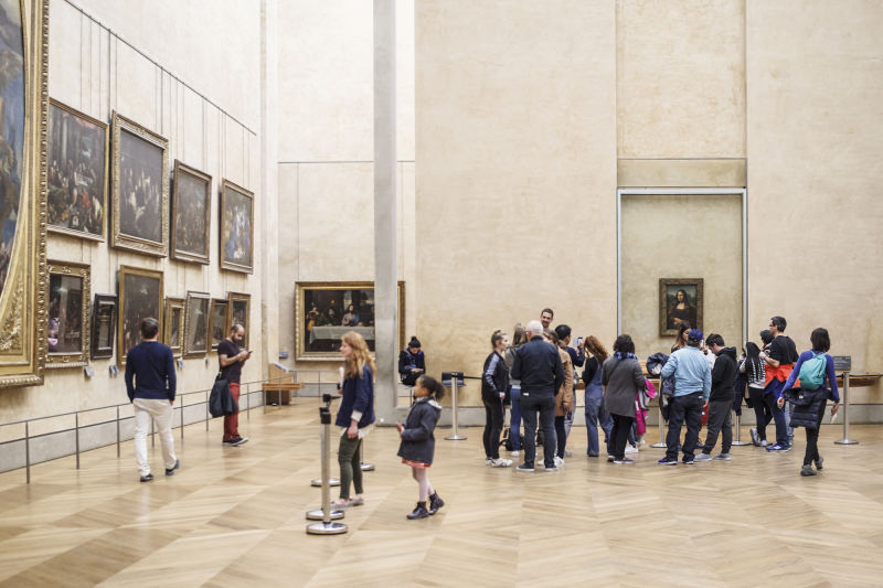 When the crowds leave, our Louvre Tour takes you inside the Mona Lisa Room.