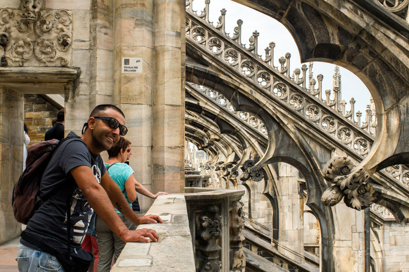 Your tour includes special access to climb the roof of Milan Duomo
