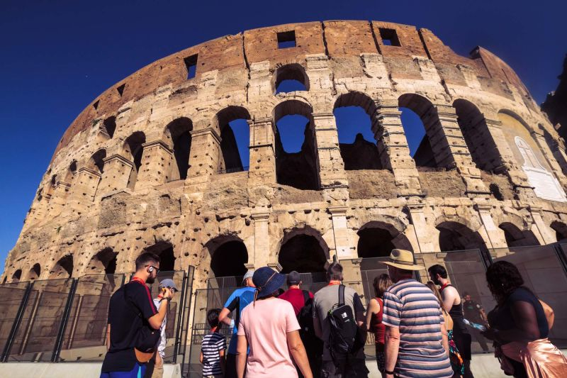 Entering the Colosseum is the highlight of any Roman Holiday.