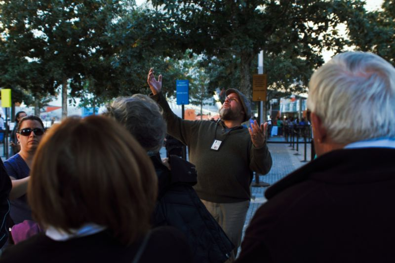 A local guide brings stories to life on our 911 tour