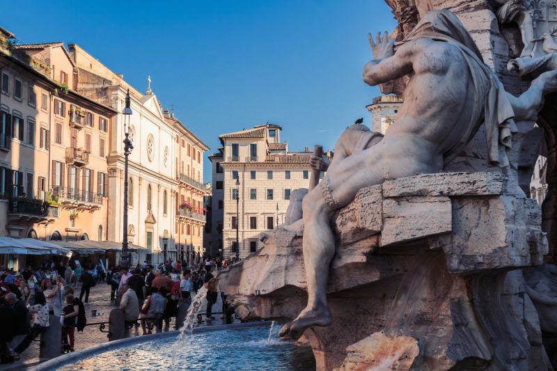 The Fountain of the Four Rivers is one of Rome's most beloved meeting points.