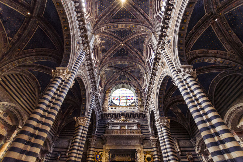 Siena's cathedral has one of Italy's most impressive interiors