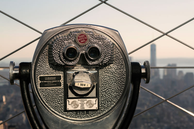 The top of the Empire State Building