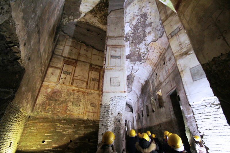 The frescoes in the Domus Aurea could cover 30 Sistine Chapels