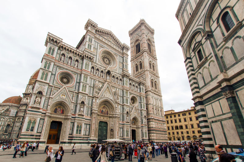 The facade of the Florence Cathedral