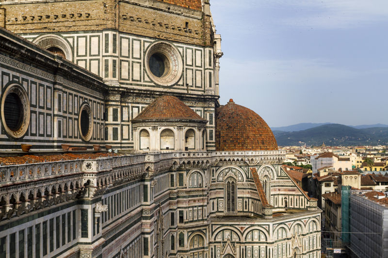 Special access to the Duomo Terraces allows you to get up close to the dome's incredible tilework.