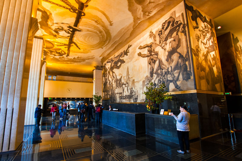 The lobby of Rockefeller Center is an attraction in an of itself
