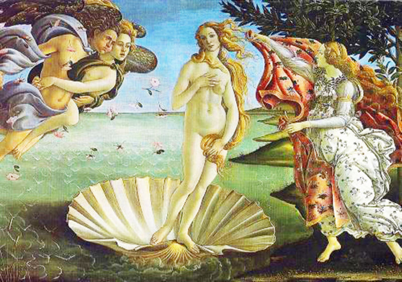 Botticelli's Birth of Venus in the Uffizi