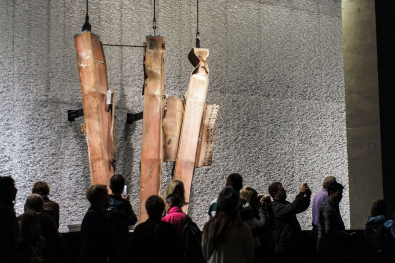 Remains from the 911 tragedy are displayed inside the Museum