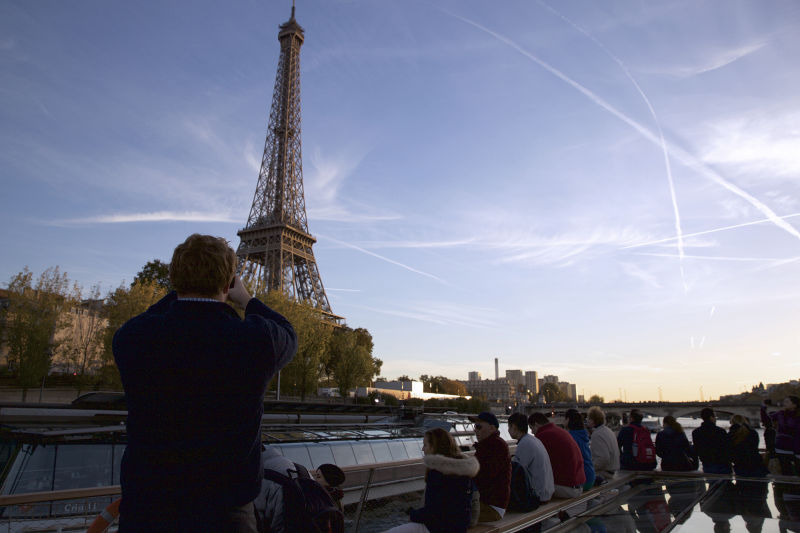The Eiffel Tower seen from the Seine is a moving experience.