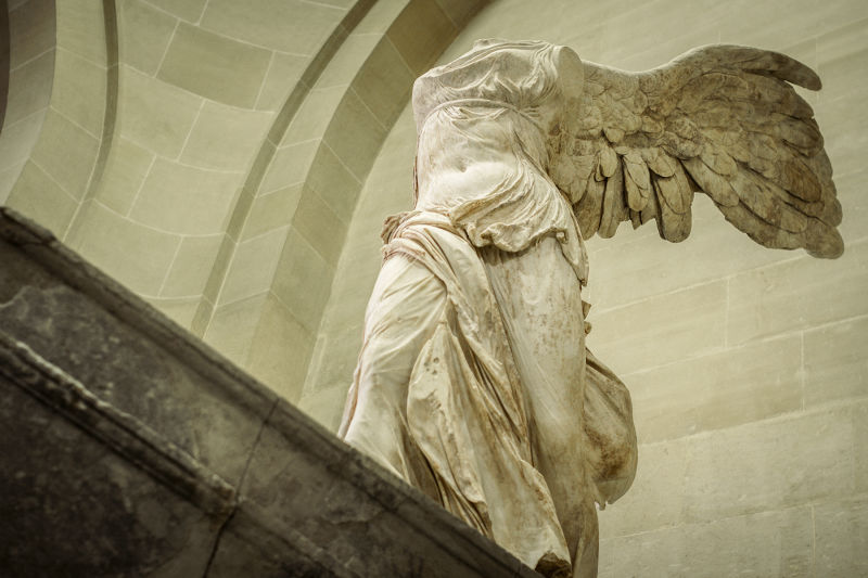 'Winged Victory of Samothrace' as visited on your Louvre tour