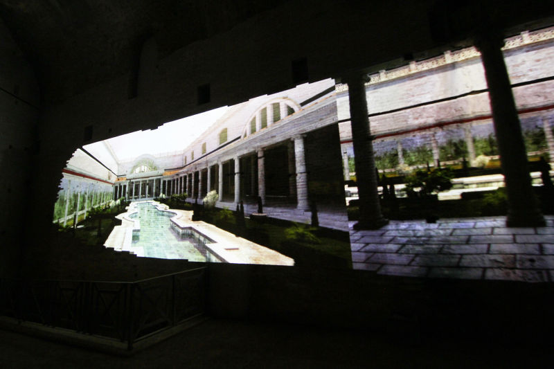 Augmented reality displays in the Domus Aurea