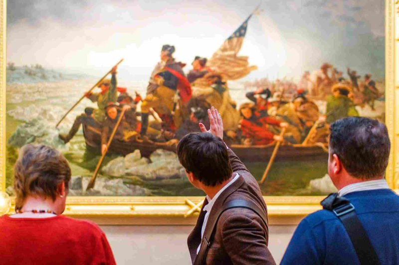 'Washington Crossing the Delaware' is a firm favorite of many visitors.