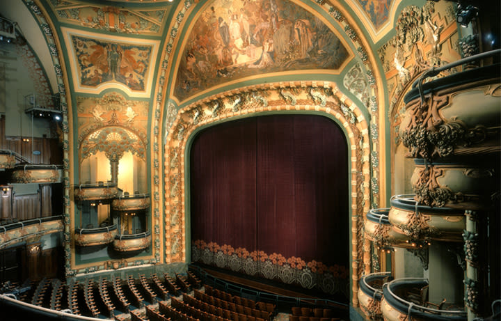 The New Amsterdam Theatre is one of the of the loveliest in Broadway