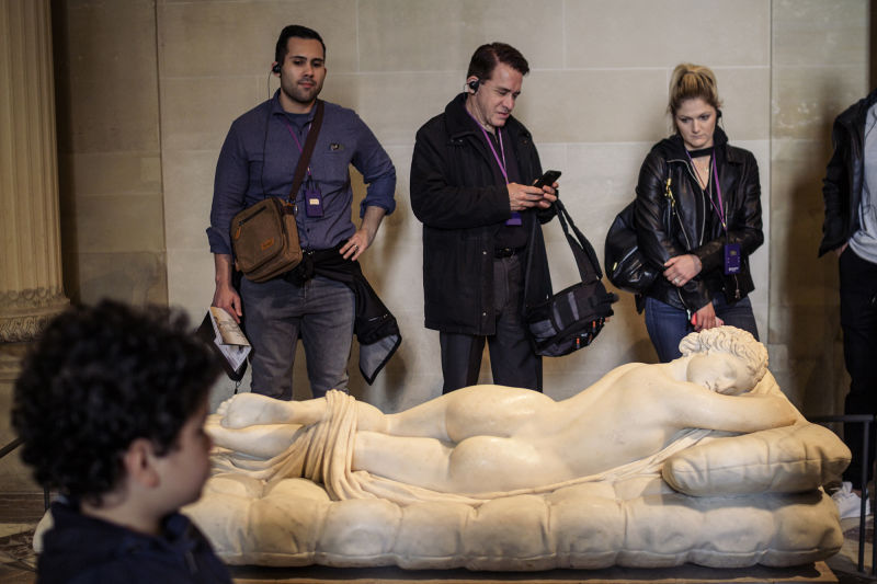 One of our favorite statues in the Louvre, the Sleeping Hermaphroditus hides quite a surprise, depending on where you view it.