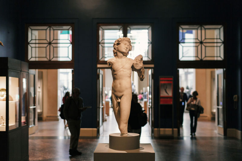 Ancient works from all over the world can be found at the Met Museum