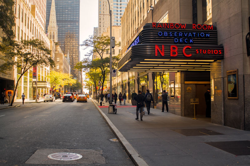 The entrance to NBC studios