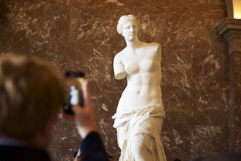Everyone wants a picture of the 'Venus de Milo' but your expert guide will give you an explanation of the statue that is much better than any selfie.