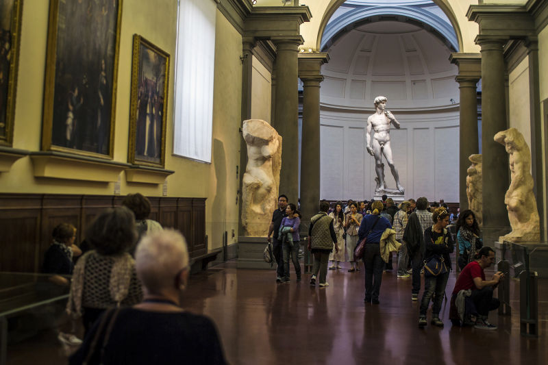 Early entry is key to avoiding the large crowds in the Florence Accademia