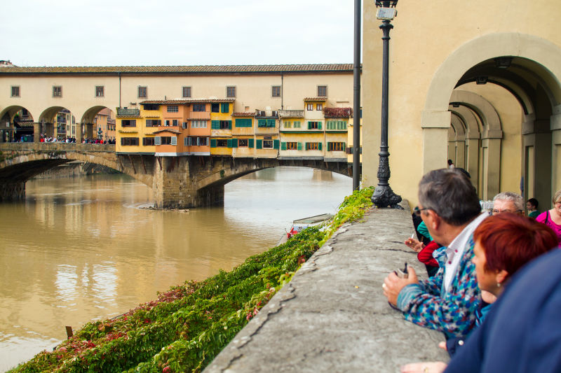 A view of the Ponte Vecchio