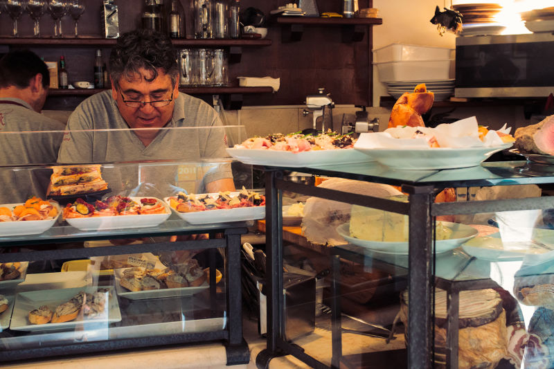We always stop by a few of the most beloved cicchetti bars in Venice.