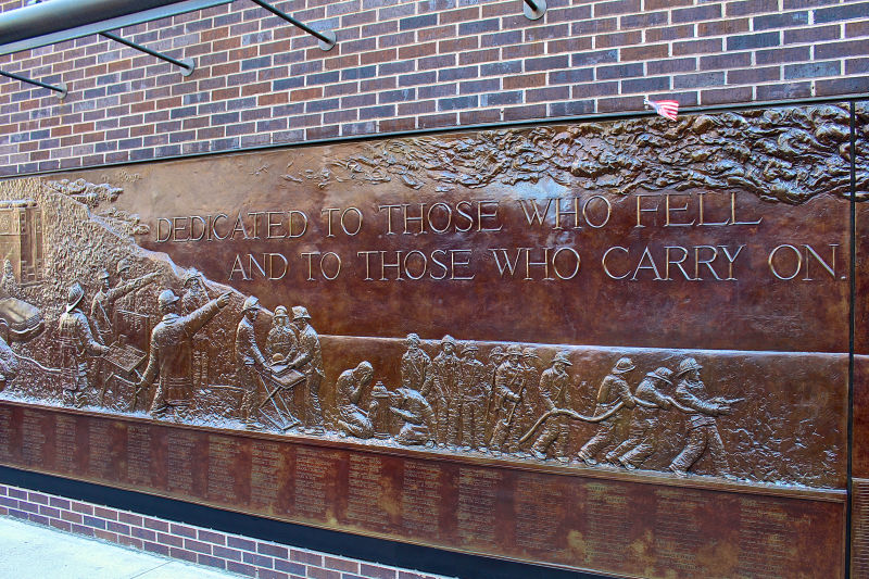 The FDNY Memorial Wall at the 9/11 Memorial