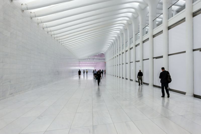 Inside the new Occulus building, included on your 911 Memorial