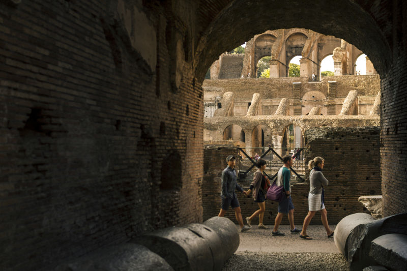 A view from the inside the Roman Colosseum